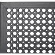 Fußbodenmatte schwarz - Gummi (152,5 x 91,5cm)