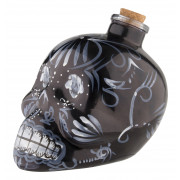 Dekanter/Flasche Day of the Dead, schwarz - 0,7l