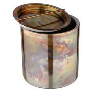 Eiseimer, doppelwandig, Edelstahl - Vintage-Kupferoptik (1,5l)